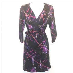 Cute Jonathan Martin wrap dress multicolored szM